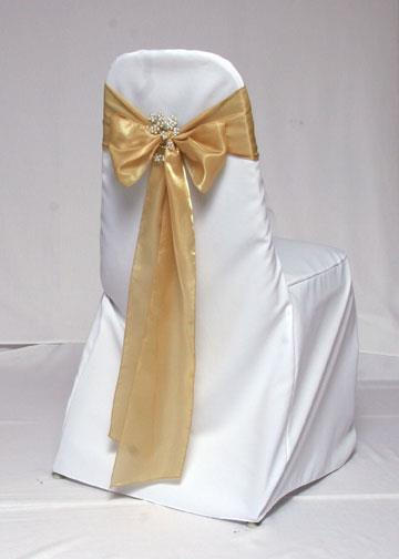 Banquet Chair with Gold Ribbon